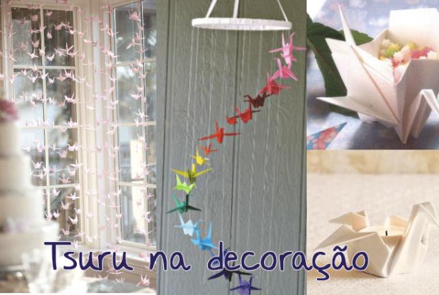 Tsuru na decoração