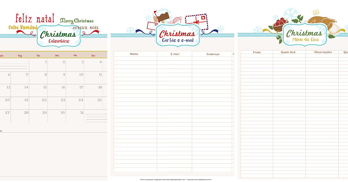 Muito 50 templates grátis para decorar sua festa de Natal AA82