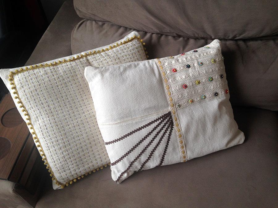 Almofadas na decoração